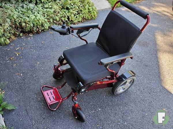 Fold & Go Electric Folding Wheelchair   at www.freetocollect.co.uk