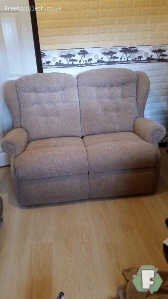 Small 2 seater sofa and matching small chair  at www.freetocollect.co.uk