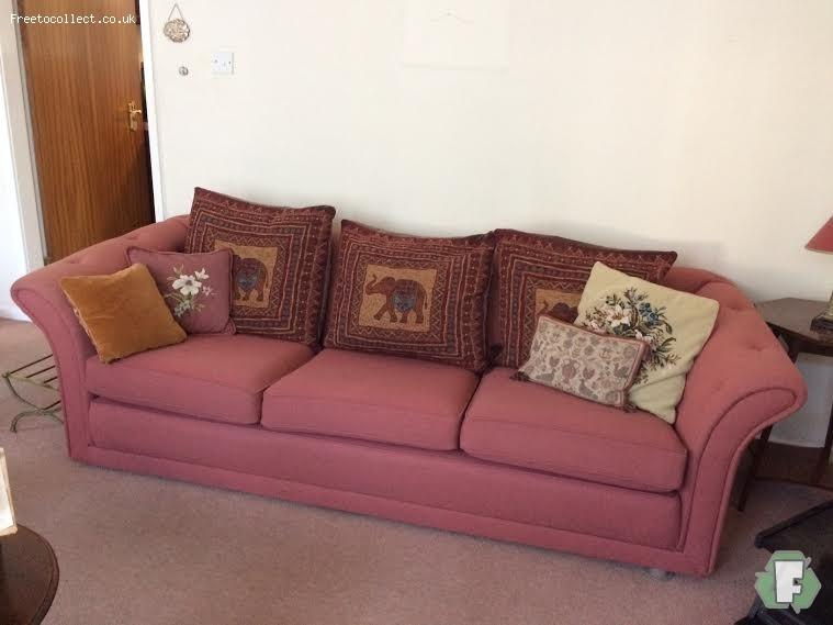 TWO X LARGE CHESTERFIELD SOFAS  at www.freetocollect.co.uk